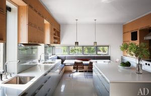 A geometric Hamptons house by Leroy Street Studio and decorator Thad Hayes Design-kitchen.jpg