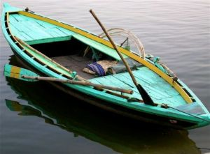 row boats wooden boats - www.myLusciousLife.com - teal greenish-row-boat.jpg