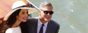 Amal Alamuddin and George Clooney head off to make things official in Venice 2014.jpg