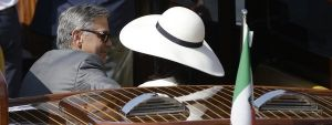 Amal Alamuddin and George Clooney head off to make things official in Venice.jpg