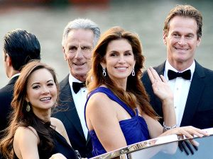 Cindy Crawford and husband Rande Gerber in Venice for George and Amal wedding - September 2014.JPG