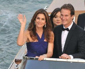 Cindy Crawford and husband Rande in Venice for George and Amal wedding - September 2014.jpg