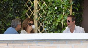 Clooney had breakfast with Cindy Crawford and Rande Gerber on Saturday morning.jpg