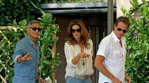 Clooney had breakfast with Cindy Crawford and her husband Rande Gerber on Saturday morning.jpg