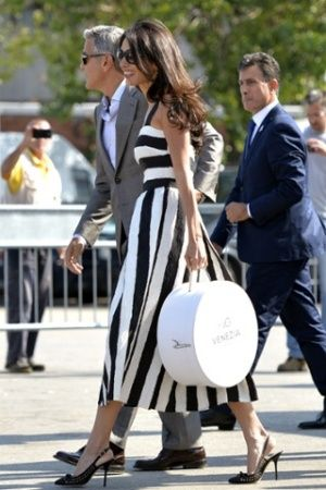George Clooney Amal Alamuddin wedding in Venice - black and white dress.jpg