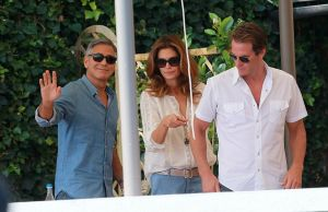 George had breakfast with Cindy Crawford and her husband Rande Gerber on Saturday morning.jpg