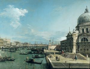 Venice Grand Canal as depicted in this painting of The Canaletto from the 1700s.jpg