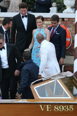 George Clooney and Amal Alamuddin wedding arrivals