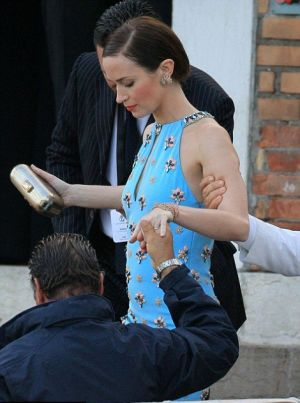 Wedding guests - Emily Blunt blue dress featured floral jewel-detail.JPG