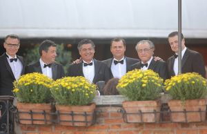 Wedding guests at Amal and George Clooney wedding in Venice September 2014.jpg