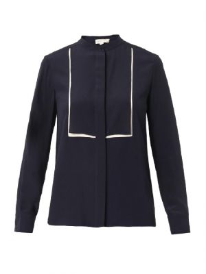 Stella McCartney Caroline bi-colour silk blouse.jpg