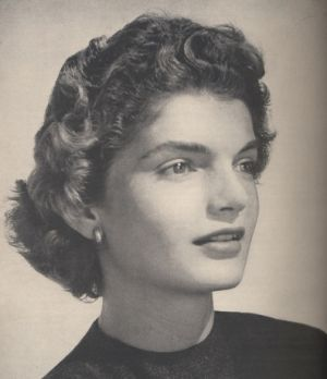 1953 Jacqueline Bouvier by Horst P. Horst on the announcement of her marriage to  John F. Kennedy of Massachusetts.jpg