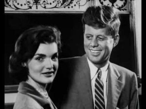 Fashion photos of Jackie Kennedy Onassis - young politicians jackie bouvier kennedy onassis and jfk.jpg