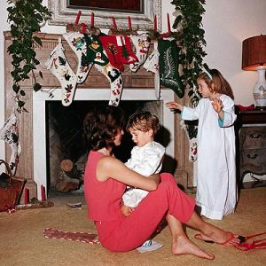 Jackie Kennedy images - jackie kennedy and kids at christmas.jpg