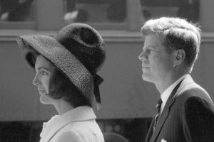 Jackie and Kennedy - jackie bouvier kennedy with john kennedy.jpg