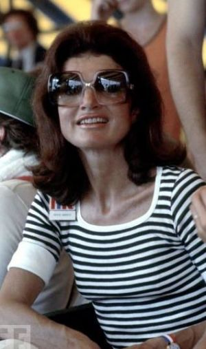 Jackie and Kennedy - jackie kennedy  in striped shirt.jpg