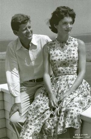 Jacqueline Bouvier Kennedy Onassis fashion - john and jackie kennedy.jpg