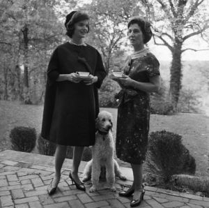 Jackie Kennedy Standing With Janet Auchincloss