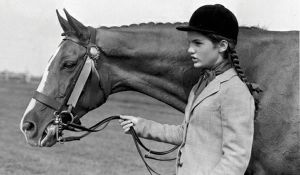 Pictures of Jackie Bouvier Kennedy Onassis - young jackie bouvier with a horse.jpg