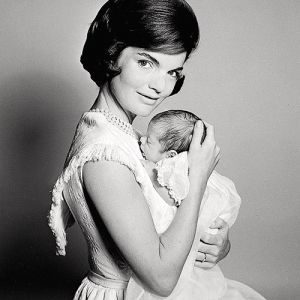 Pictures of Jackie Kennedy dress - jackie kennedy with baby.jpg