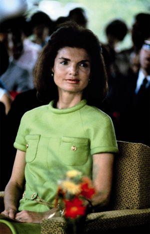 Pictures of Jackie Kennedy dress - jackie-kennedy wearing green.jpg
