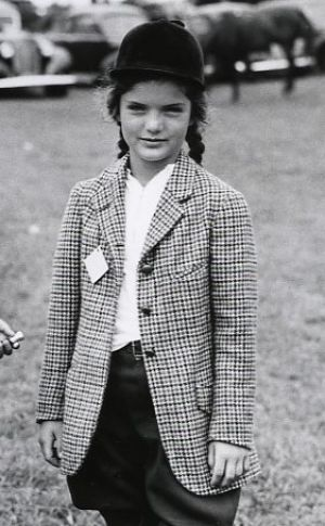 Style icon in the making - Young jackie bouvier horseriding.jpg