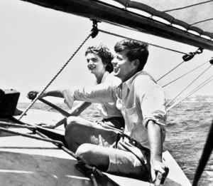 jackie bouvier kennedy and john on a boat.jpg