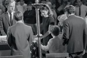 Jacqueline Kennedy and Her Children at Robert Kennedy's Funeral
