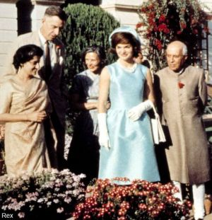 jackie bouvier kennedy onassis in india in blue dress.jpg