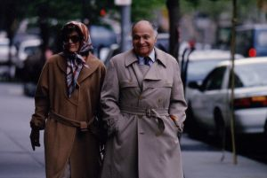 jackie bouvier kennedy onassis on the street with maurice.jpg
