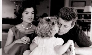 jackie bouvier kennedy onassis with jfk and caroline.jpg