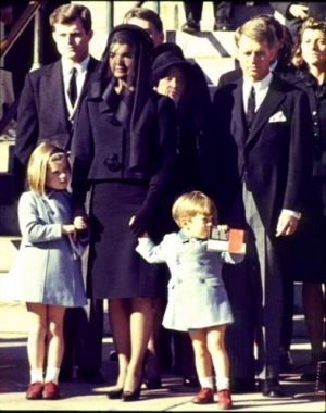 jackie bouvier kennedy onassis with kids at jfk funeral.jpg