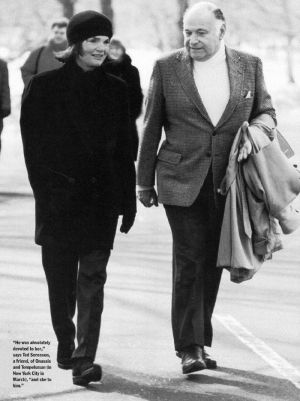 jackie bouvier kennedy onassis with maurice on the street.jpg