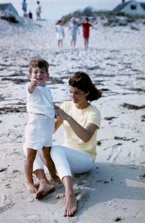 jackie bouvier kennedy with son john on the beach.jpg