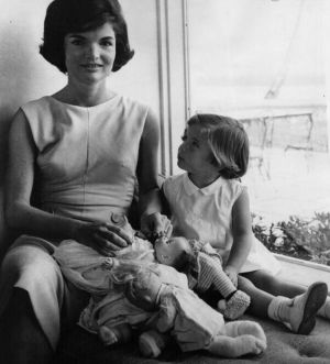 jackie kennedy style as the first lady with caroline.jpg