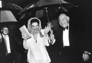 maurice with umbrella and jackie bouvier kennedy onassis.jpg