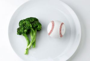 PORTION SIZES: 1 serving of fruits or veggies equals 1 baseball or a fist