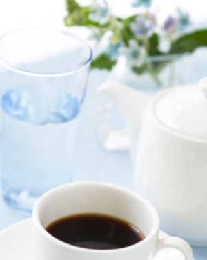 A healthy life - Wednesday Weight blog series -Drinking water coffee flowers.jpg