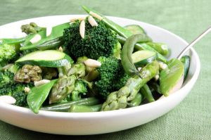 Health life - green vegetables with almonds.jpg