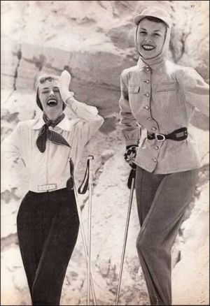 IMAGES Wednesday Weight blog series - A healthy life - skiwear 1949 glamour.jpg