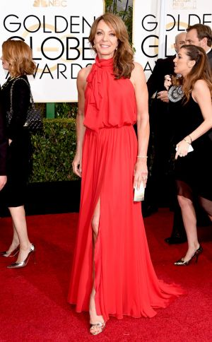 Golden Globes 2015 fashion - Allison Janney in Ella Zahlan.jpg