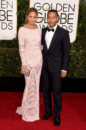 Golden Globes 2015 fashion - Chrissy Teigen and John Legend.jpg