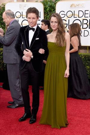 Golden Globes 2015 fashion - Eddie Redmayne and Hannah Bagshawe.jpg