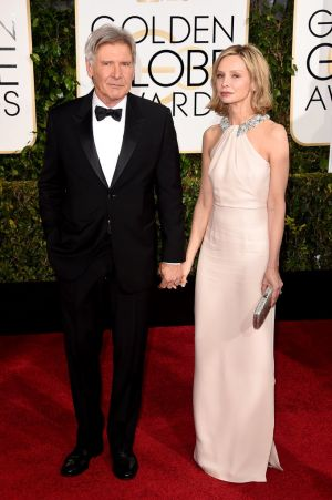 Golden Globes 2015 fashion - Harrison Ford and Calista Flockhart.jpg