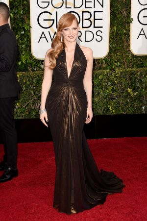Golden Globes 2015 fashion - Jessica Chastain in Versace.jpg