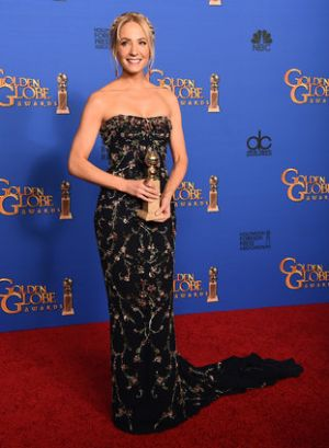 Golden Globes 2015 fashion - Joanne Froggatt in Marchesa.jpg