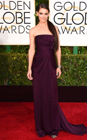 Golden Globes 2015 fashion - Katie Holmes in Marchesa.jpg