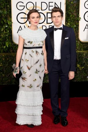 Golden Globes 2015 fashion - Keira Knightley and James Righton.jpg