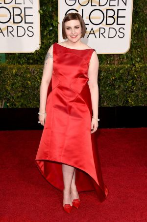 Golden Globes 2015 fashion - Lena Dunham in Zac Posen.jpg