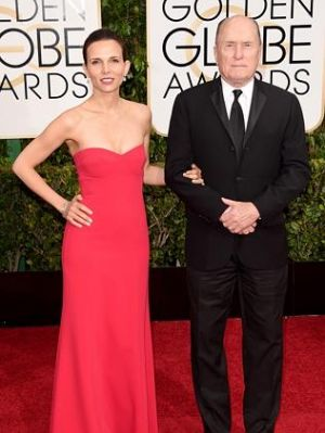 Golden Globes 2015 fashion - Luciana Duvall and actor Robert Duvall.jpg